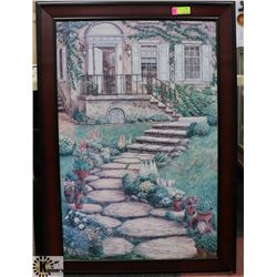 WOOD TONE FRAMED PICTURE