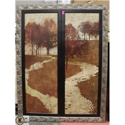 CARVED STYLE FRAMED PICTURE