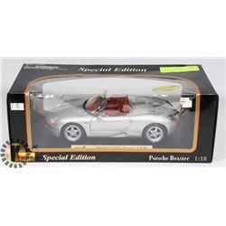 PORSCHE BOXTER 1:18 SCALE DIE CAST CAR BY MAISTO.