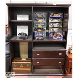 WOOD TONE TV ARMOIRE MISSING ONE DRAWER AS IS