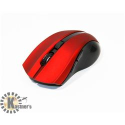NEW RED AND BLACK WIRELESS OPTICAL MOUSE