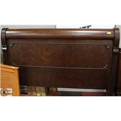 LARGE WOOD CARVED STYLE KING SIZE HEADBOARD