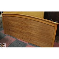 LOT OF 2 MAPLE TONE KING AND QUEEN SIZE HEADBOARDS