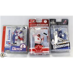 LOT OF 3 NHL FIGURES.