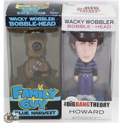 LOT OF 2 WACKY WOBBLER BOBBLE HEADS - FAMILY GUY