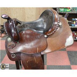 PAWN SHOP LEATHER HORSE SADDLE