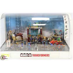 KRE-O TRANSFORMERS DISPLAY.