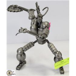 "STEAM PUNK STYLE ROBOT FIGURE. 9-1/2"" H"