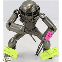 "STEAM PUNK STYLE ROBOT FIGURE. 7-1/2"" H"