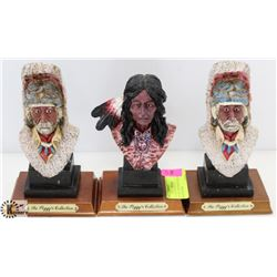LOT OF 3 THE PEGGY COLLECTION HEAD FIGURES.