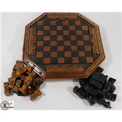 CHESSBOARD WITH PIECES.