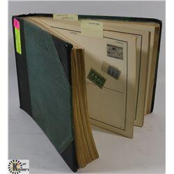 ANTIQUE STAMP COLLECTION ALBUM  1886