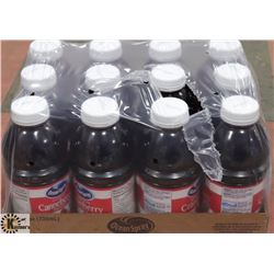 CASE WITH 12 739ML BOTTLES CRANBERRY COCKTAIL