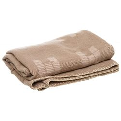 Hermes Coco and Chamomile Avalon Cashmere/Wool Throw Blanket