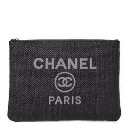 Chanel Straw Pouch