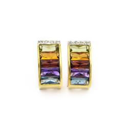 H. Stern Gold/Gemstone Pendant and Earring Set