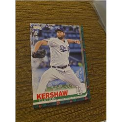 Clayton Kershaw topps holiday green