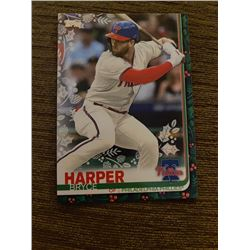 Bryce Harper topps holiday green