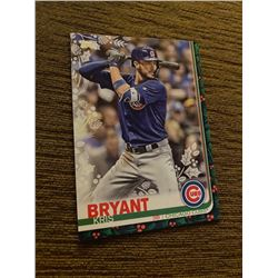 Kris Bryant topps holiday green