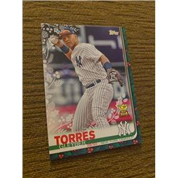 Gleyber Torres topps holiday green