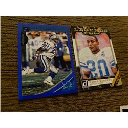Barry Sanders lot of 2 cards