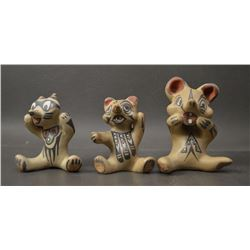 SANTA CLARA INDIAN POTTERY FIGURES (MARGARET AND LUTHER GUTIERREZ )