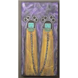 HOPI/NAVAJO  INDIAN PAINTING ( KEVIN HORACE QUANNIE)