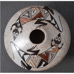HOPI INDIAN POTTERY SEED JAR (SYLVIA NAHA)