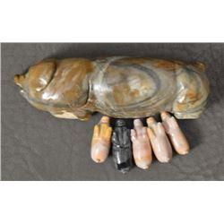 ZUNI INDIAN PIG FETISH (STANTON HANNAWEEKE)
