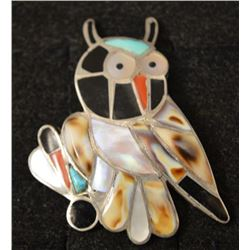 ZUNI INDIAN OWL RING