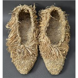 IROQUOIS INDIAN CORN HUSK MOCCASINS