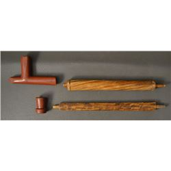 SIOUX INDIAN PIPE STONE PIPE BOWLS AND STEMS
