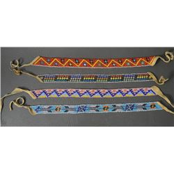 PLAINS INDIAN BEADED CHOKERS BANDS