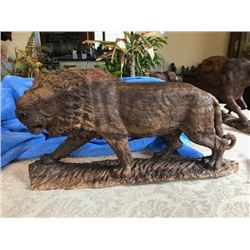 Male Lion Carving