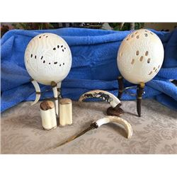 Carved Ostrich Egg Package