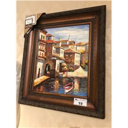 PAINTING WITH WOODEN FRAME - VENICE