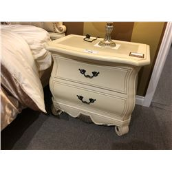 SET OF TWO IVORY COLOURED NIGHT STANDS.