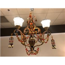 BEADED CHANDELIER.  RETAIL $2,250.00