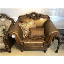 PAIR OF OVER SIZED FORMAL LOUNGE CHAIRS.  RETAIL $6,500.00