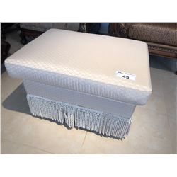 CREAM COLOUR OTTOMAN WITH TASSELS