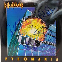 Def Leppard Signed Def Leppard Pyromania Album Cover