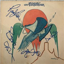 Signed Eagles On The Border Album Cover
