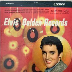 Signed Elvis Presley Elvis' Golden Records Album Cover