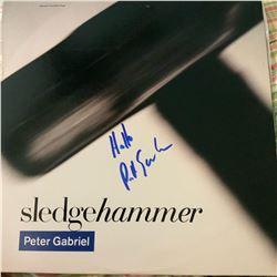 Signed Peter Gabriel Sledgehammer Album Cover