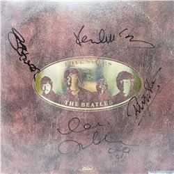 The Beatles Signed Love Songs Compilation Album Cover