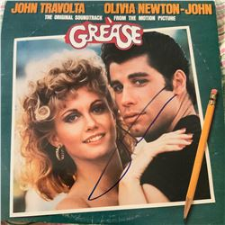 Signed Grease Movie Soundtrack Album Cover