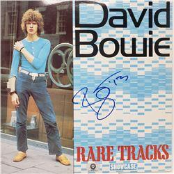 David Bowie Signed Rare Tracks Album Cover
