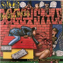 Signed Snoop Doggy Dogg Doggystyle Album Cover