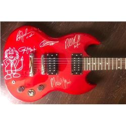 Signed AC/DC Guitar With Doodle