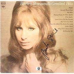 """Signed Barbra Streisand """"Barbra Streisand's Greatest Hits"""" Album Cover"""
